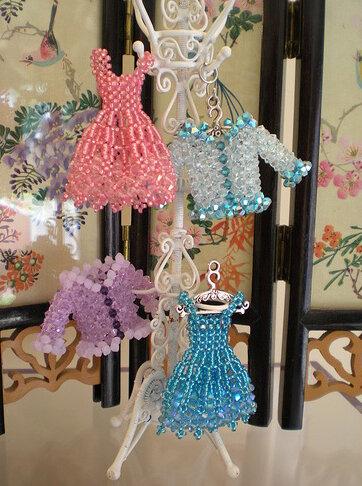 Бисерные мини-платья