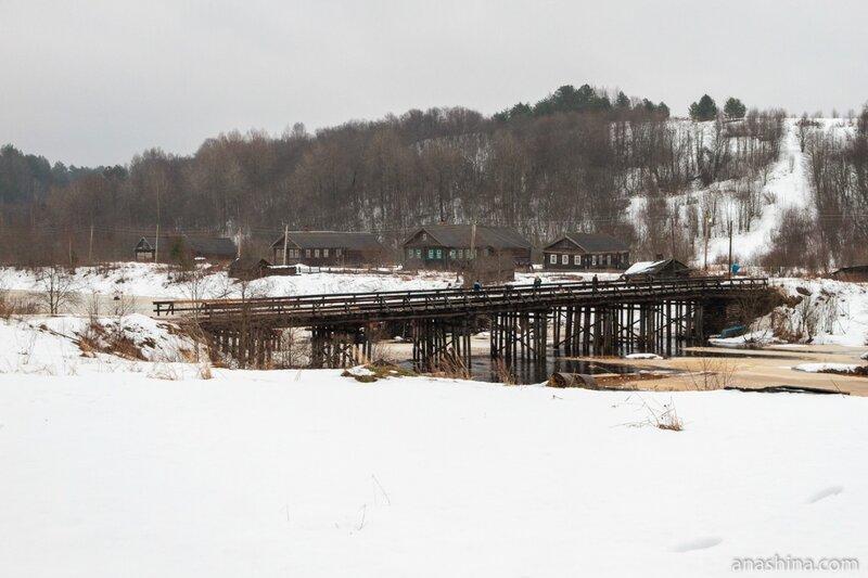 Мост через реку Самина, Саминский Погост, Вологодская область