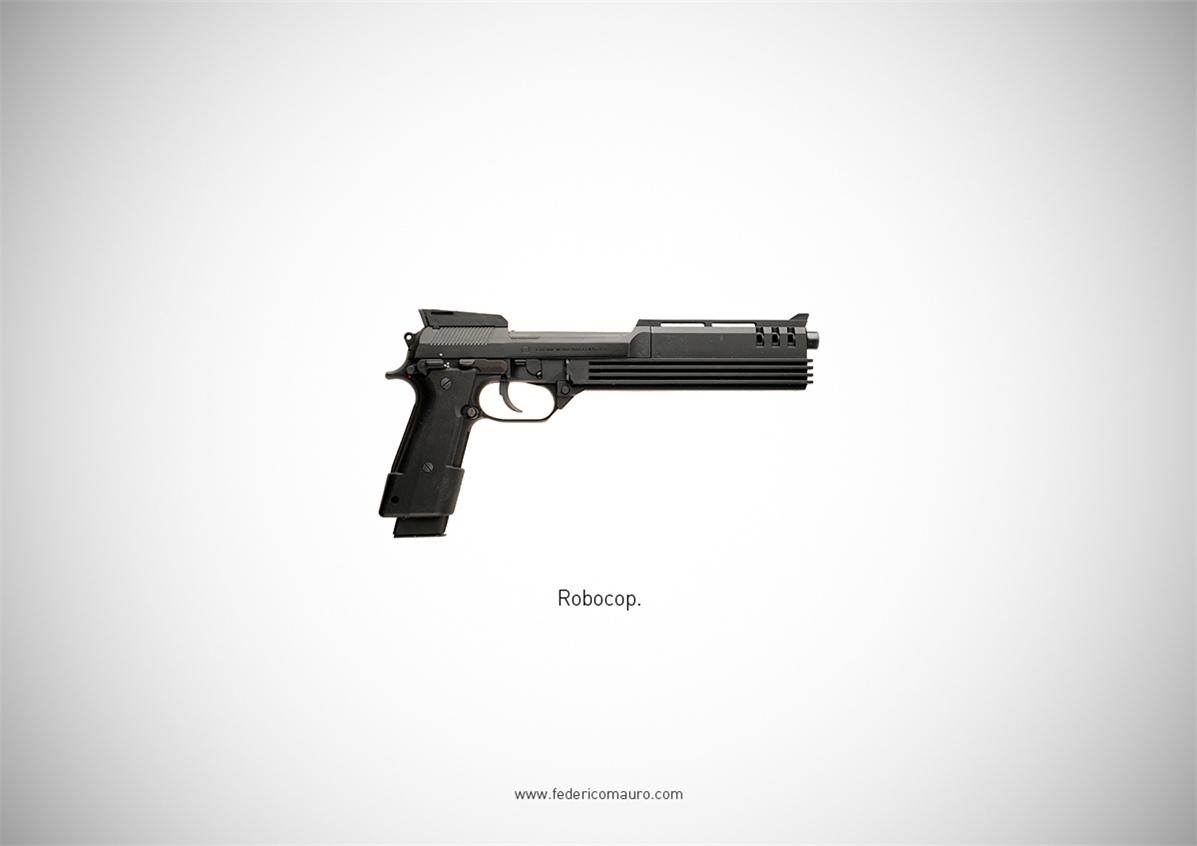 Знаменитые пушки - оружие культовых персонажей / Famous Guns by Federico Mauro - Robocop