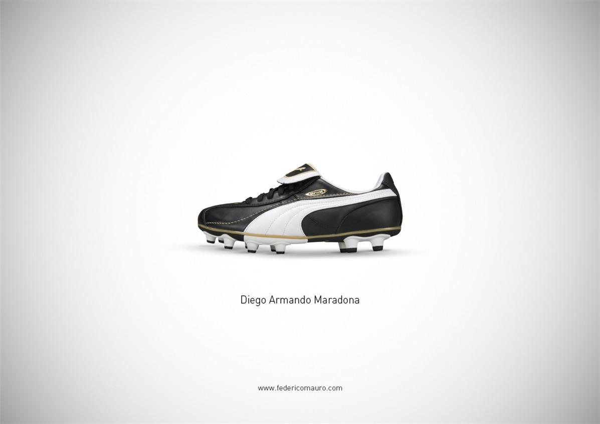 Знаменитая обувь культовых персонажей / Famous Shoes by Federico Mauro - Diego Armando Maradona