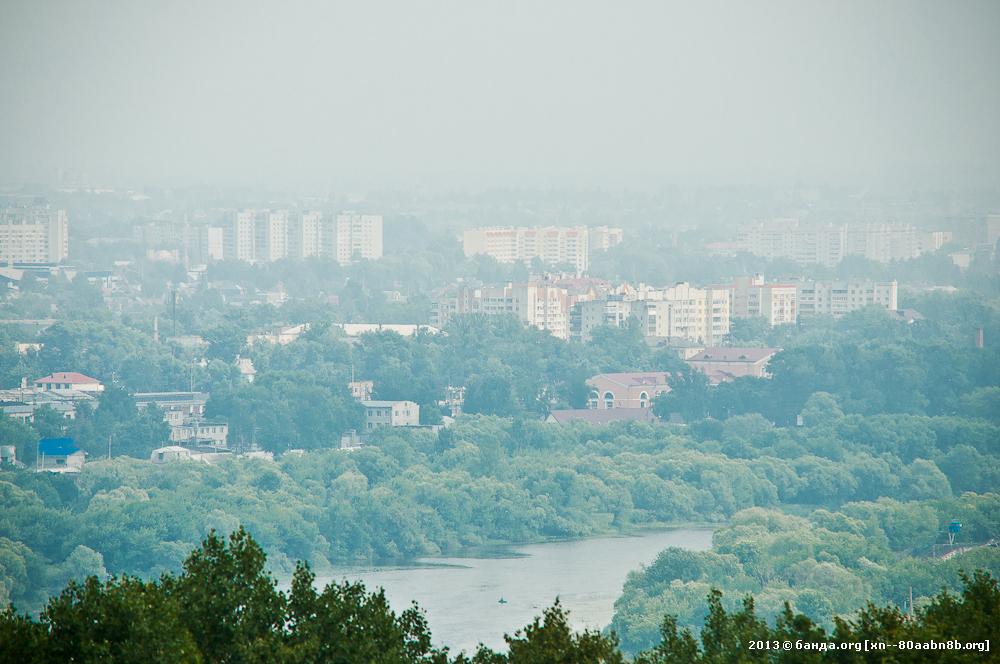 Брянск в тумане с высоты