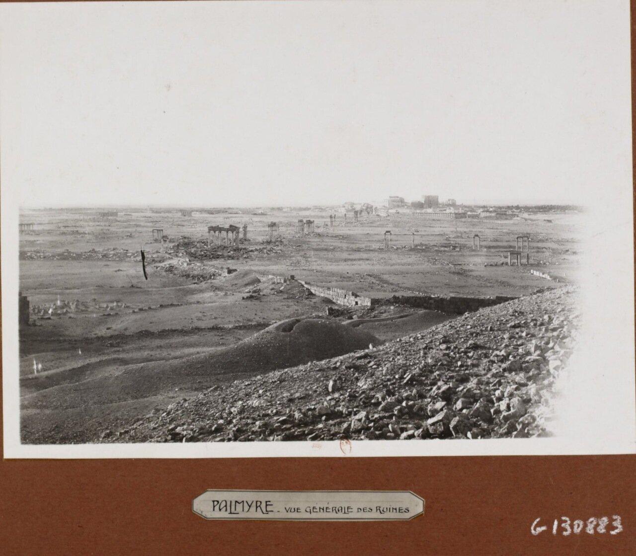 Пальмира. Панорама руин