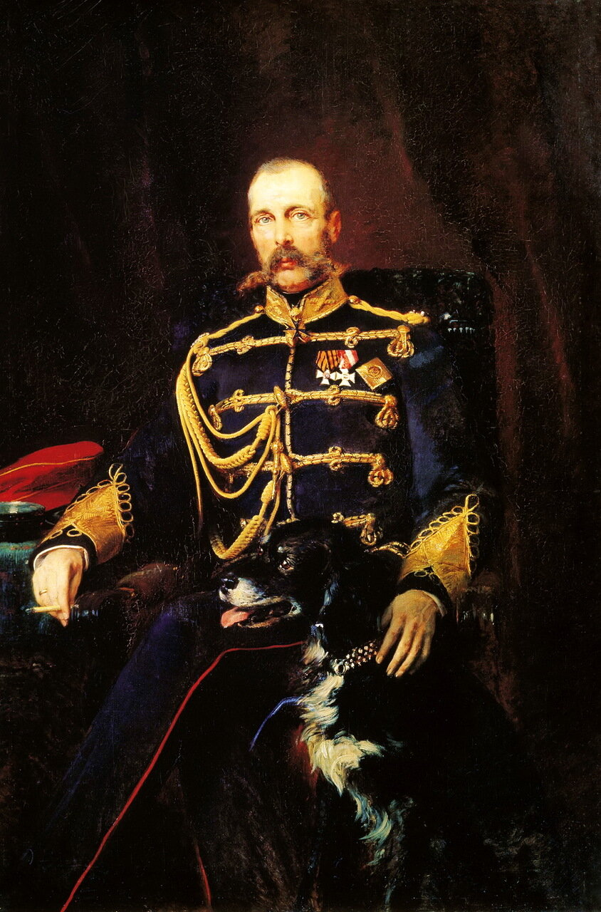 Константин Маковский (1839-1915). Портрет Александра II