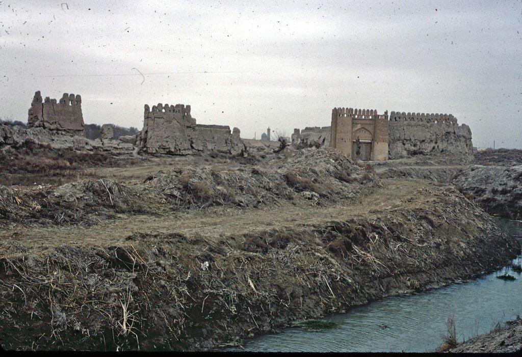 City walls of Bukhara in 1966