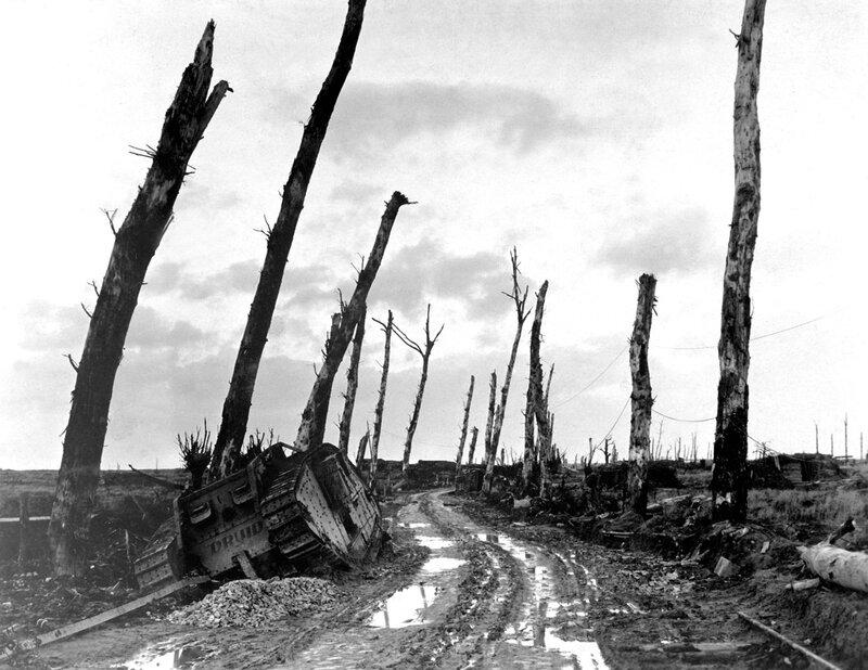 The desolation of war. Poilcapelle, Belgium, 1917