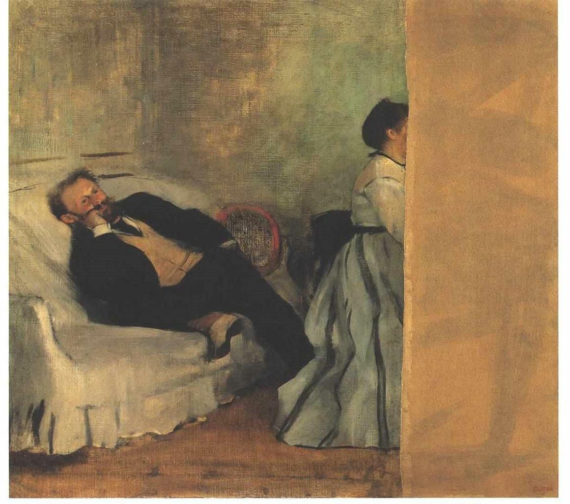Эдуард Мане и его жена (Сюзанна)1868–1869__Дега Эдгар (1834-1917);