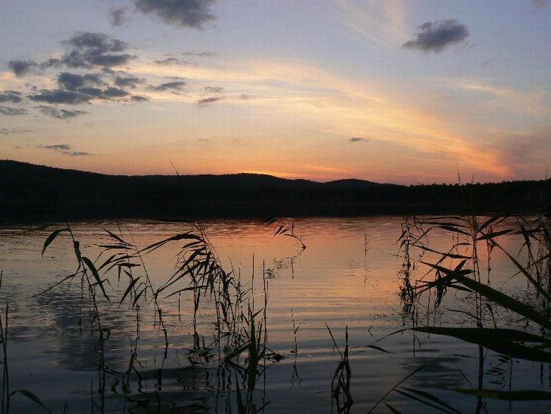 Закат на озере Татыш (23.08.2013)