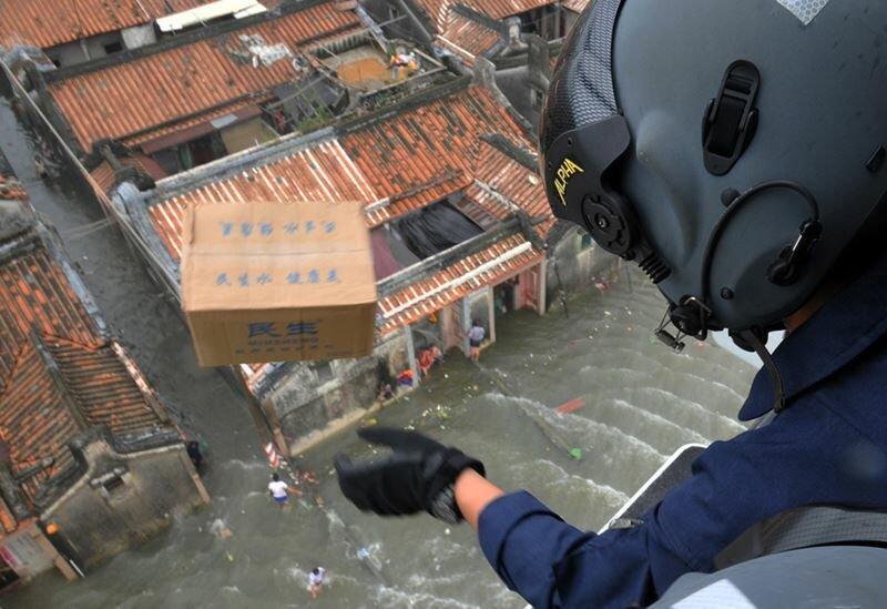 Потрясающие фотографии сверху на затопленный китайский город Шаньтоу