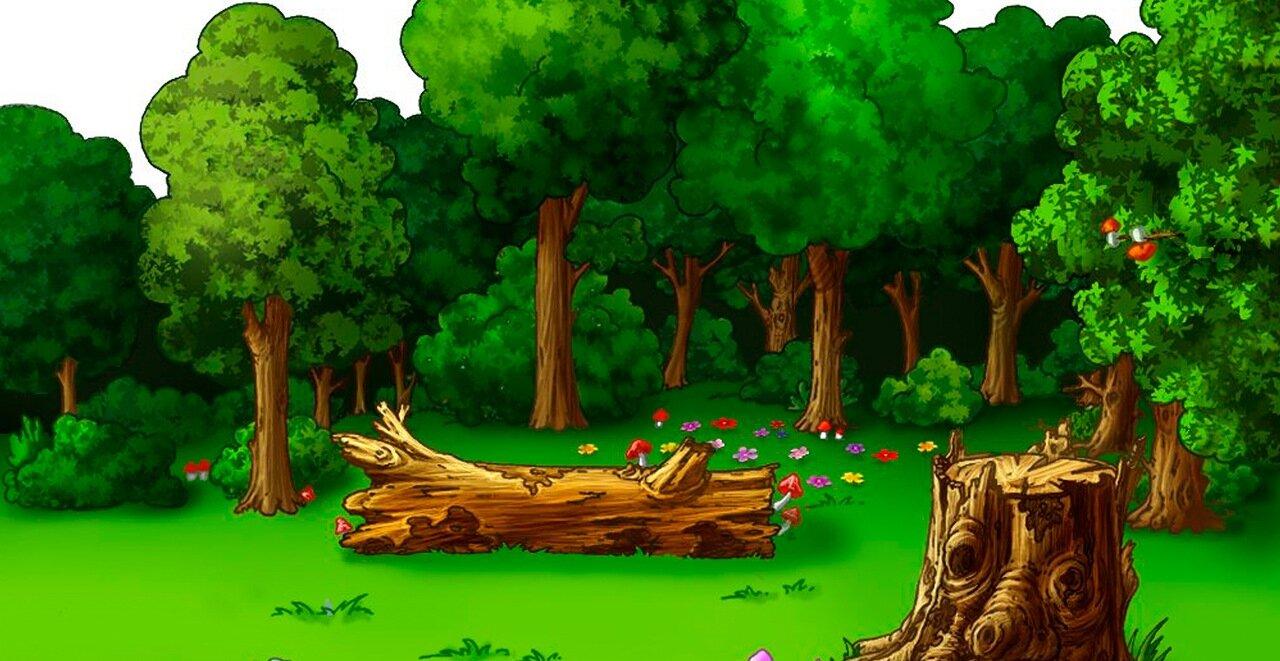 Картинки анимация вода природа лес был