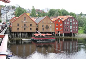Тронхейм. Старый мост, Trondheim, Old Town Bridge, Gamle Bybrua