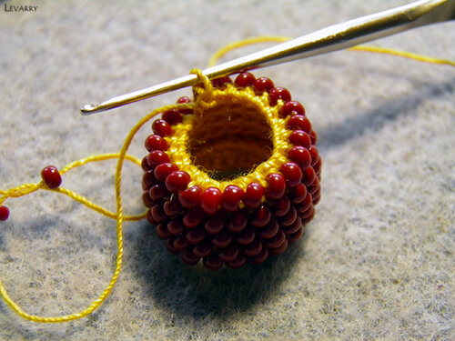 Вязание жгута из бисера столбиком мастер класс