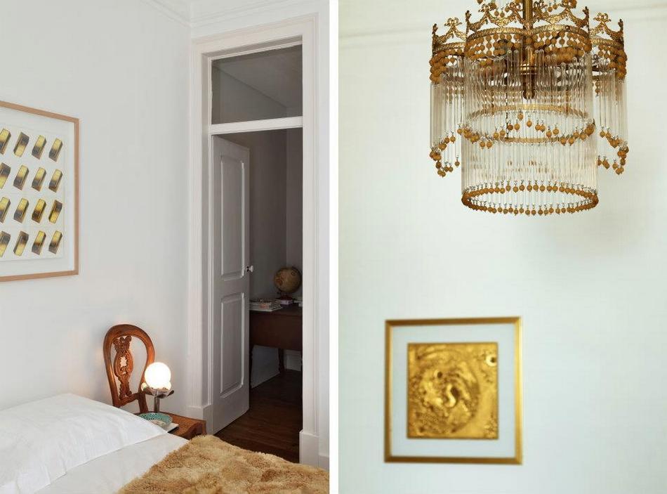 Олдскульный интерьер квартиры с элементами современности