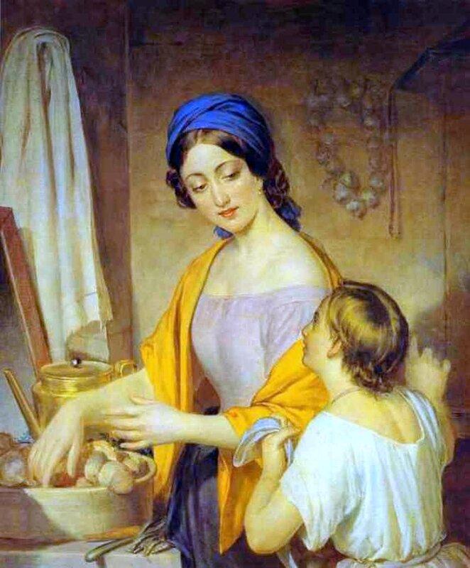 Молодая хозяйка, Алексей Тыранов, картины