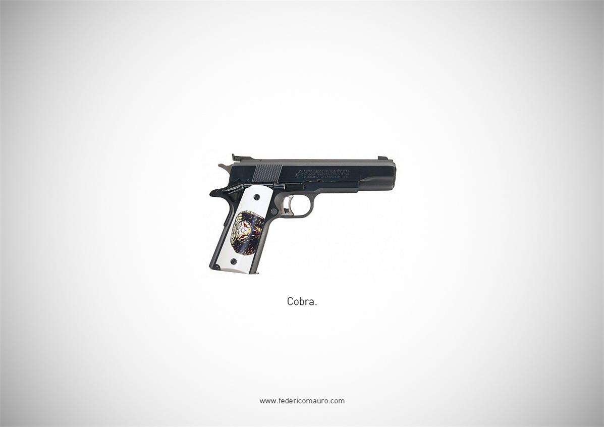 Знаменитые пушки - оружие культовых персонажей / Famous Guns by Federico Mauro - Cobra