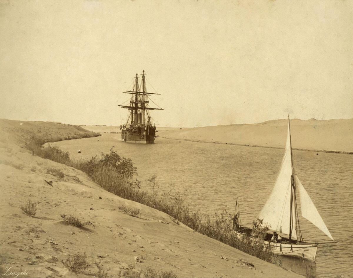 1885. «Владимир Мономах» в Суэцком канале. Порт-Саид