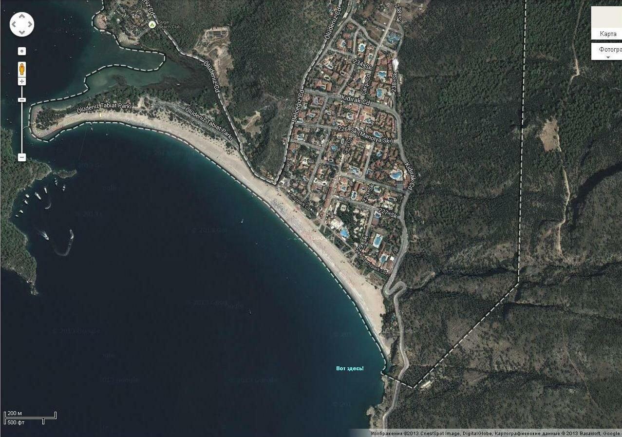 Ищем нудистский пляж в Фетхие