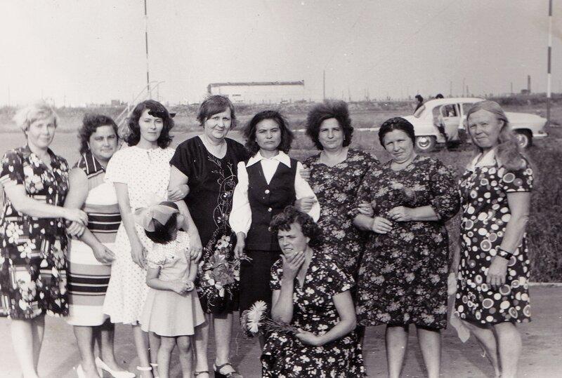 Работницы Славгородского гражданского аэропорта.