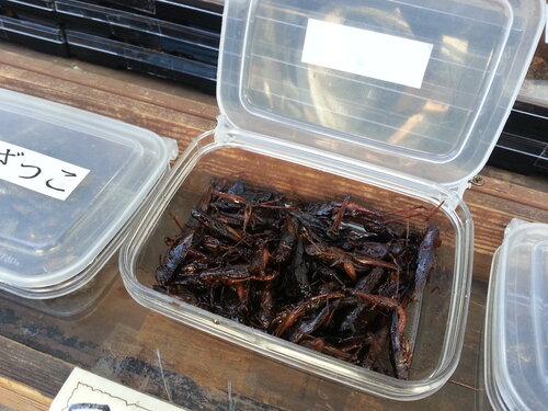 На туристической улице Нариты я единственный раз в Японии видел жареных насекомых. Покупателей, правда, не видел