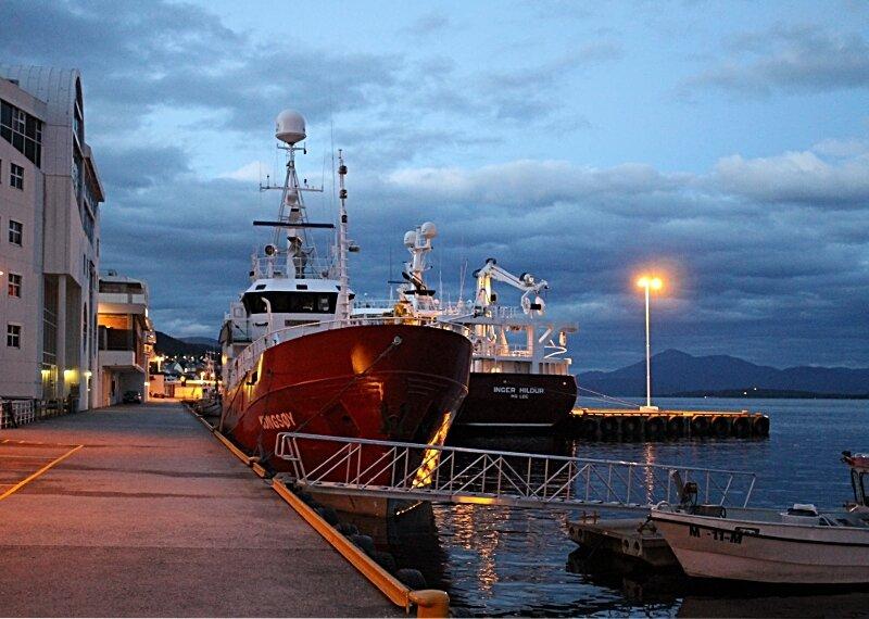Норвегия, Вечерний Молде. набережная. Waterfront Molde, Norway
