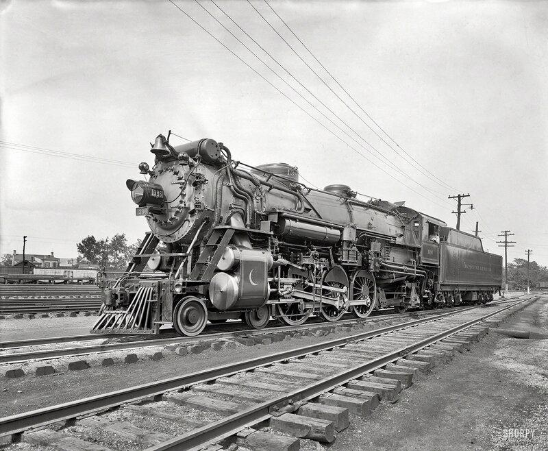 Alexandria, Virginia, circa 1926. American Locomotive Co. -- Southern R.R. Crescent Limited 1396