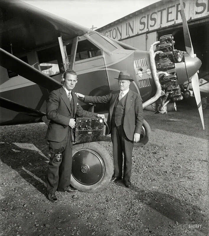 Dec. 5, 1929. Ignition interference from airplane engines on aircraft is largely a myth according to C. Francis Jenkins, Washington, D.C.