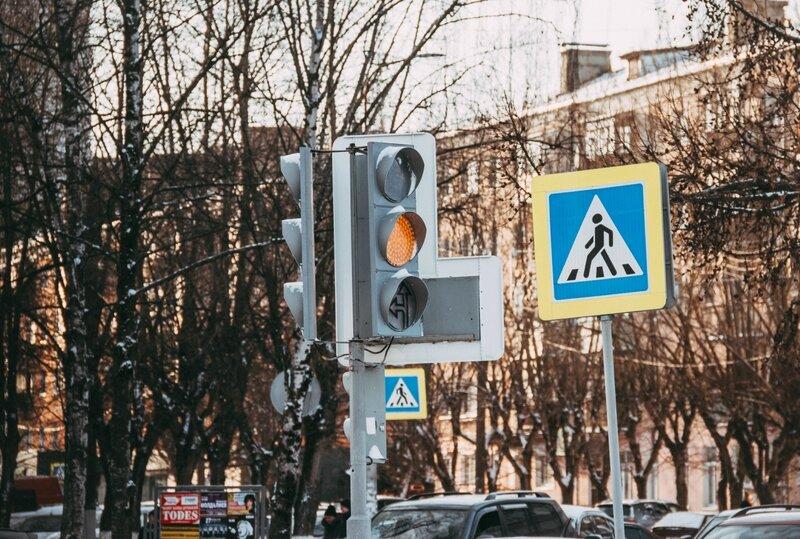 Светофор на пл. Ленина
