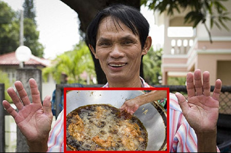 Голыми руками Однажды обычный продавец курицы-гриль Чиан Мэй из Таиланда увидел, как белка уронила в