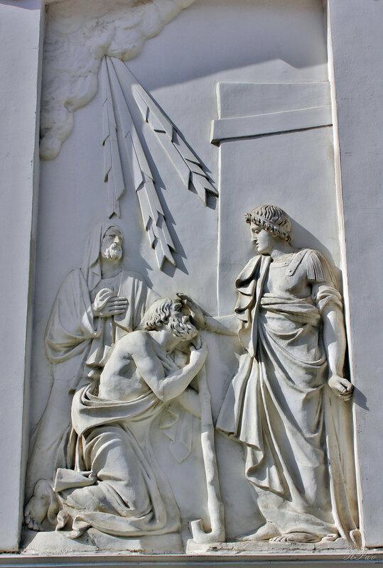 Мраморный барельеф. Пантелеймоновская церковь