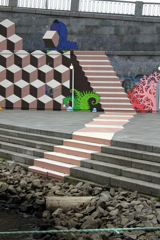 3D-лестница на набережной Днепра