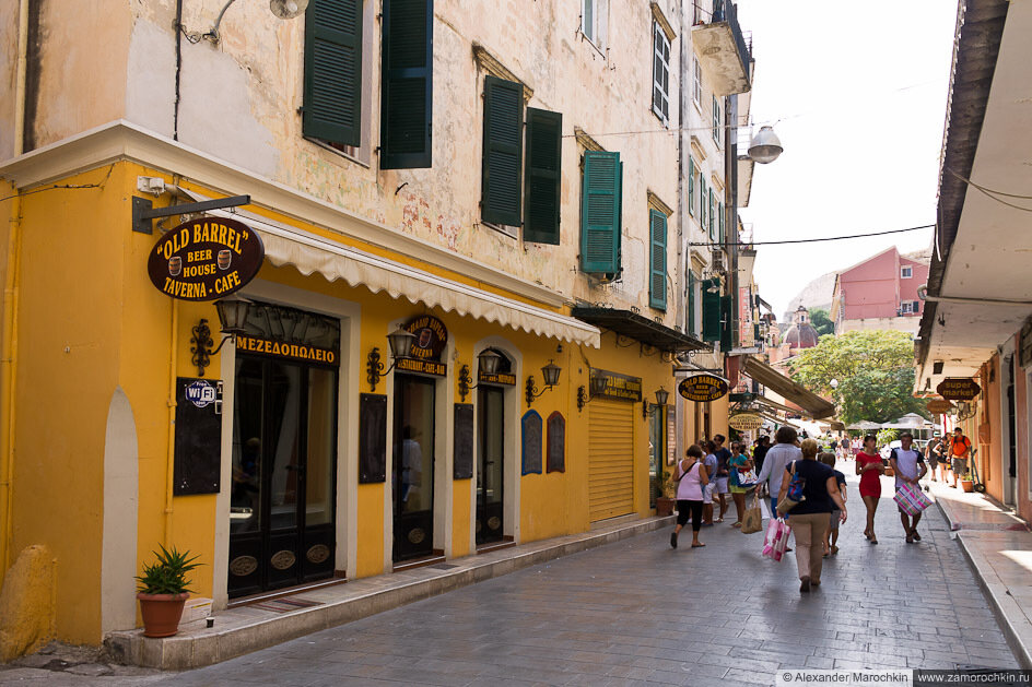 Улицы Керкиры, Корфу, Греция