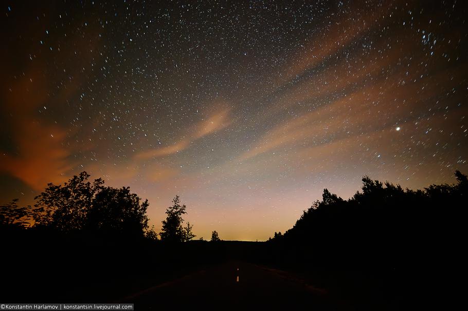 Полярное сияние в Беларуси,звездное небо в Беларуси