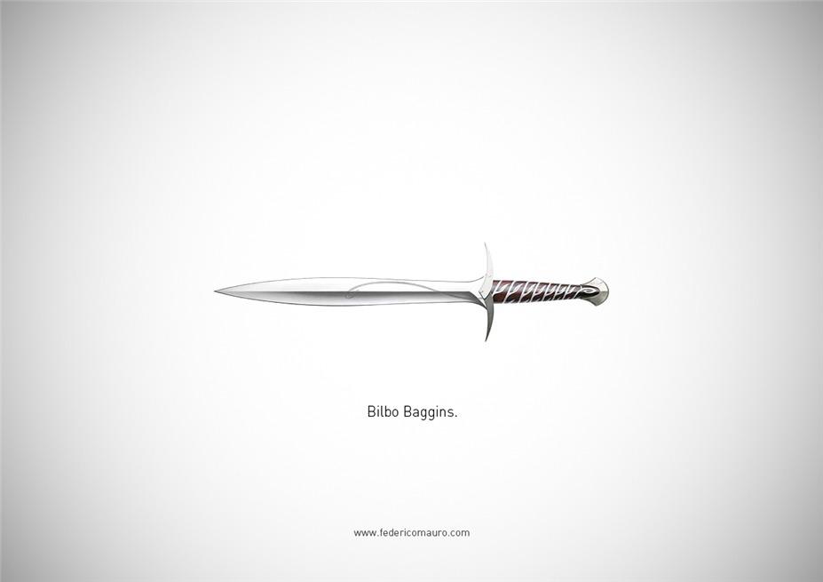 Знаменитые клинки, ножи и тесаки культовых персонажей / Famous Blades by Federico Mauro - Bilbo Baggins