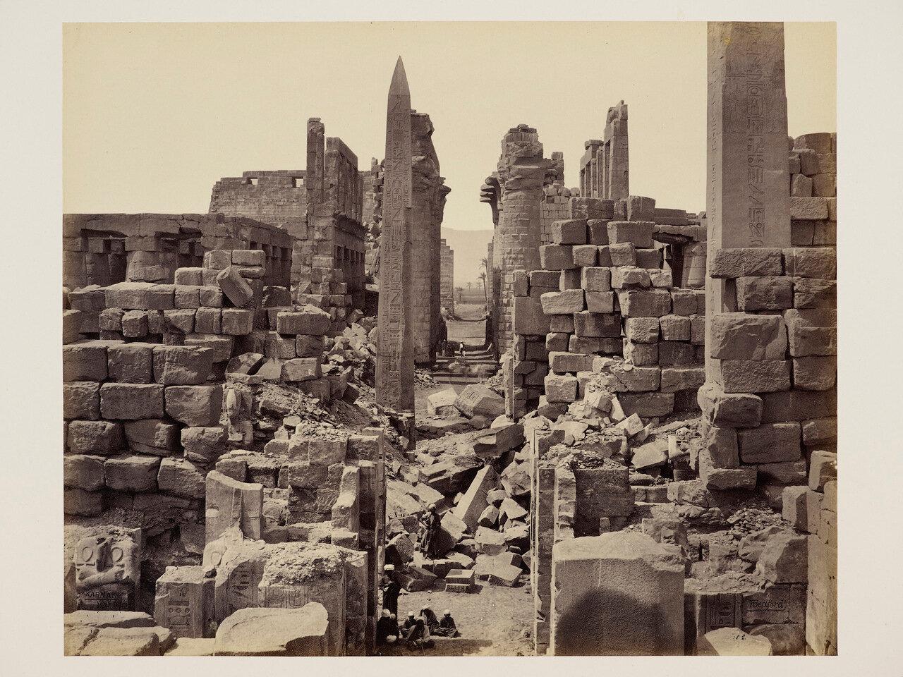 16 марта 1862. Общий вид с юга, Карнак, храм Амона