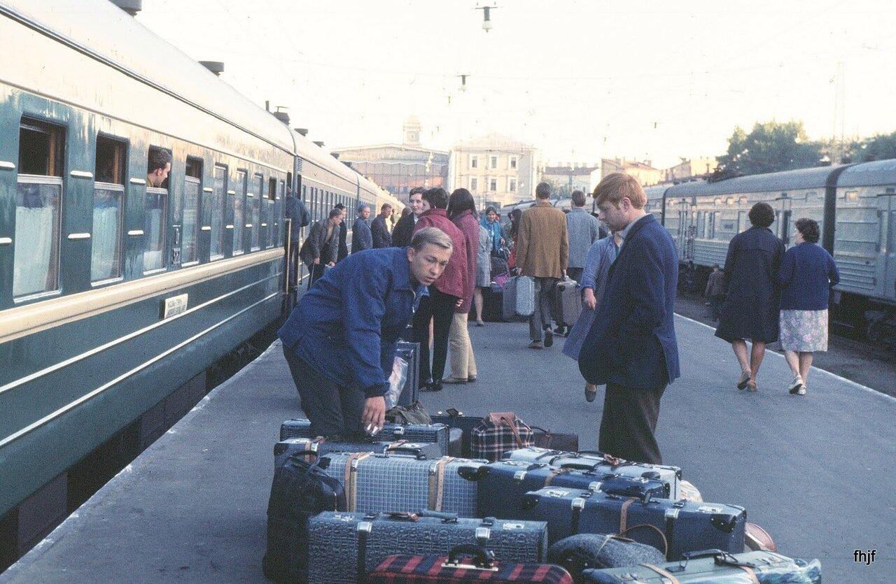 baggage on platform