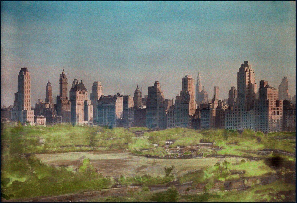 1930. Вид Нью-Йорка с Центральным парком на переднем плане