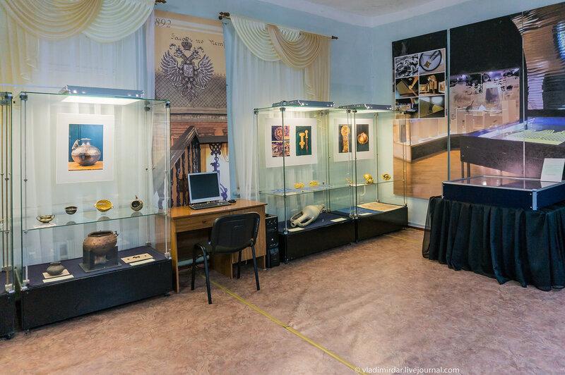 Экспозиция выставки Золото степей