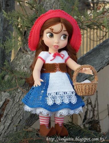 Кукла красная шапочка крючком