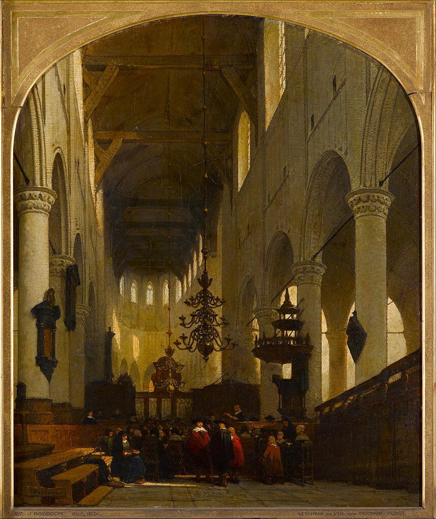 Церковь Петра в Лейдене, ок. 1868, Босбум Иоханнес (1817-1891) Gemeentemuseum