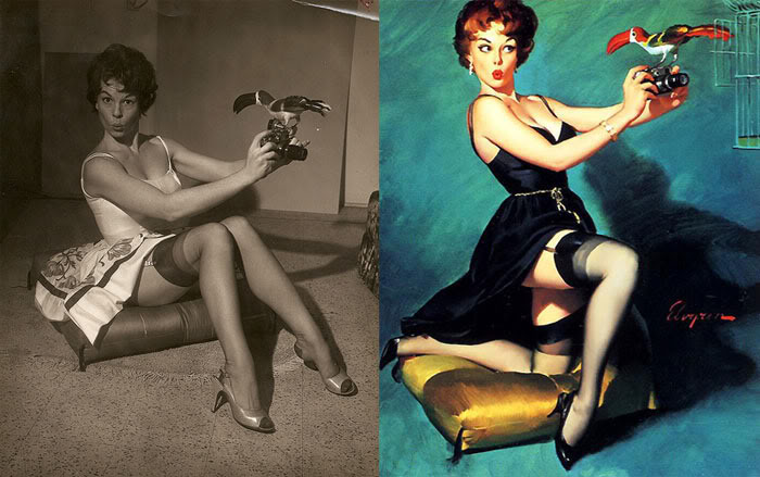 Секс рисунки 1950 х женшин
