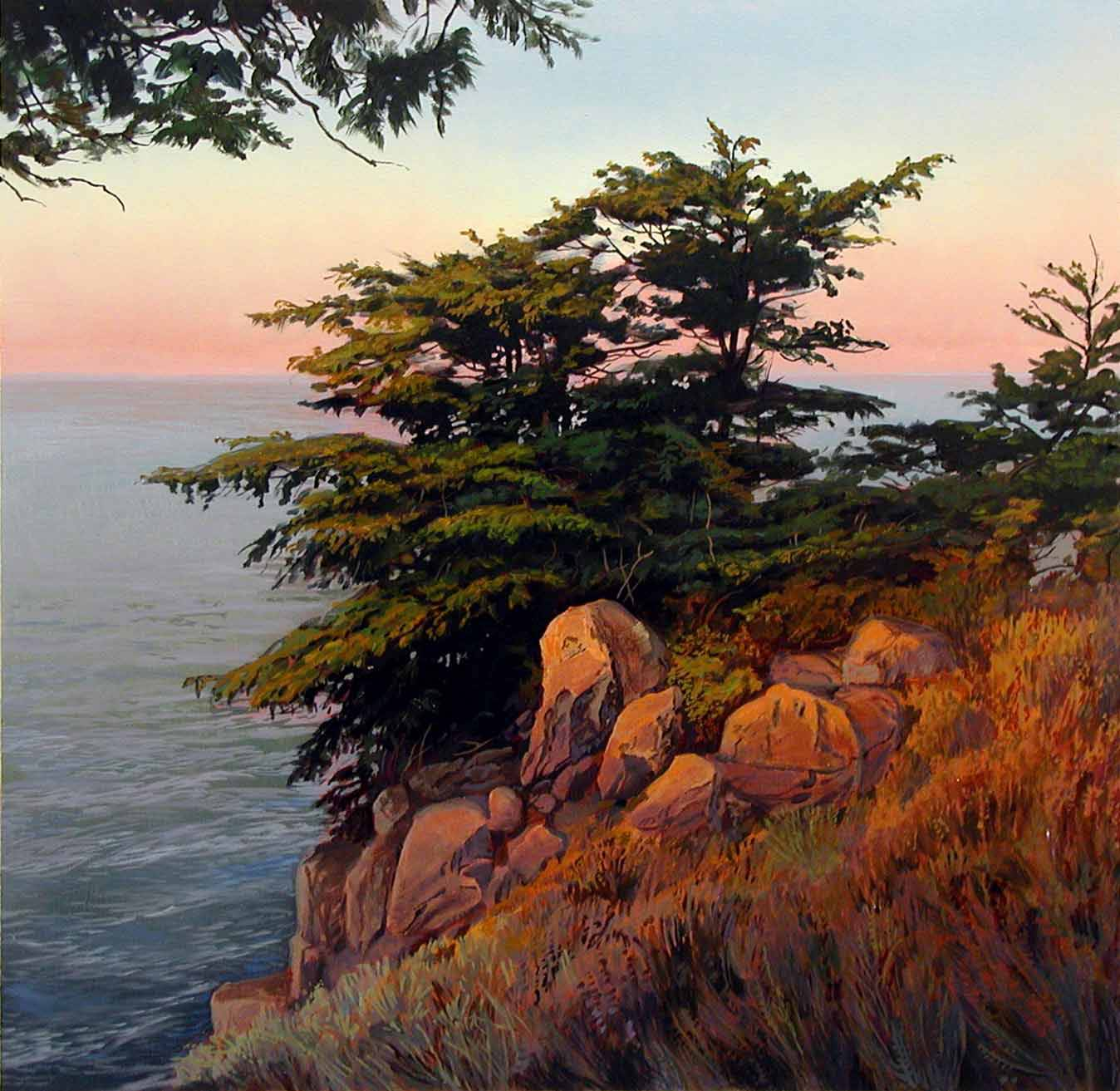 Калифорнийское побережье к югу от Кармель