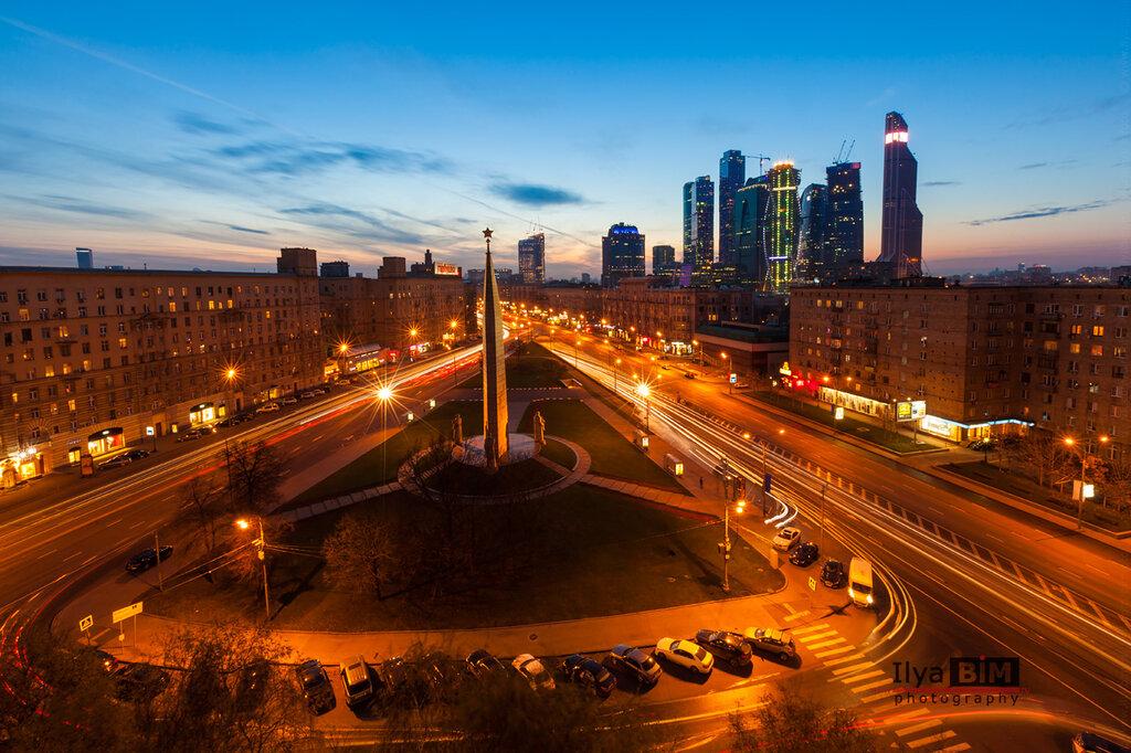 Панорама площади Дрогомиловская Застава