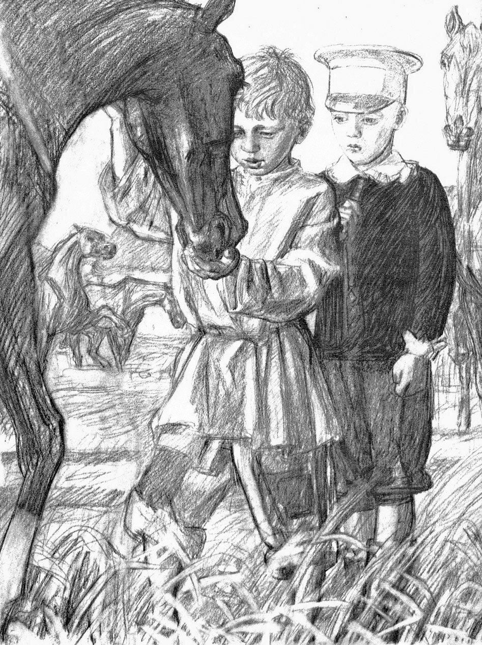 Рисунки к рассказу детство толстого