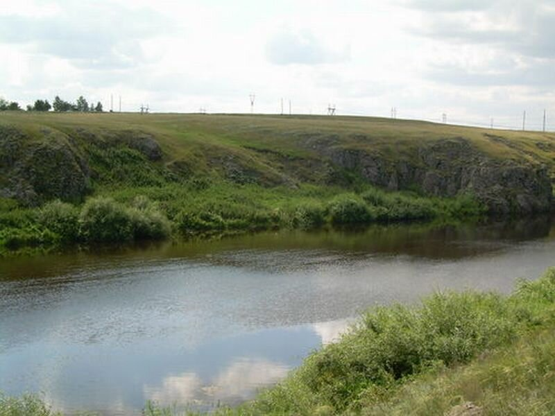 Река Увелька протекает через 8 районов Челябинской области (24.10.2013)