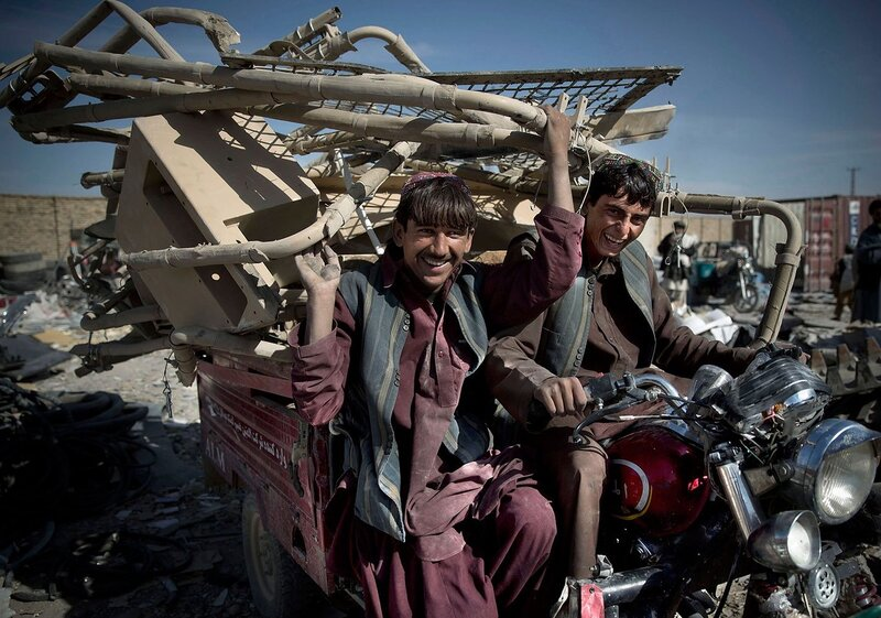 APTOPIX Afghanistan US Junk