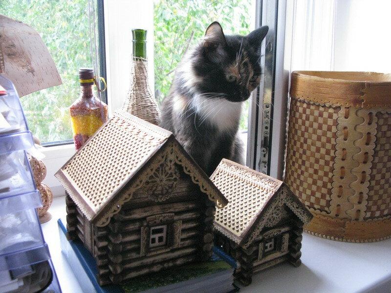 Кошка в деревне.