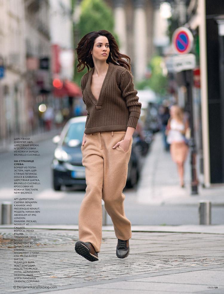 Хана Бен Абдесслем (Hanaa Ben Abdesslem) в журнале GRAZIA Russia