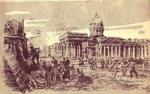 1945. Оборонные работы в Ленинграде