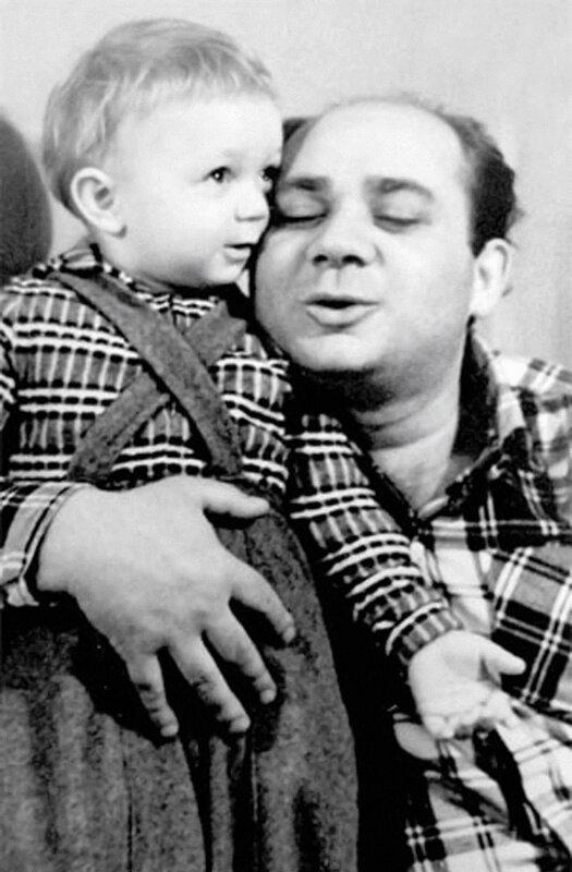 Е.Леонов с сыном