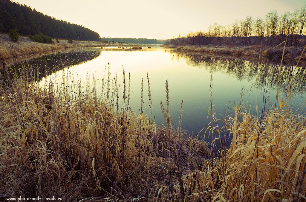 Река Чусовая. Пример фото на зеркальную камеру Никон Д5100 и ширик Самъянг 14/2,8.