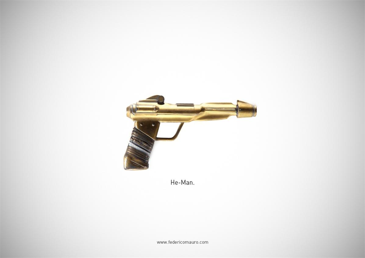 Знаменитые пушки - оружие культовых персонажей / Famous Guns by Federico Mauro - He-Man (Masters of the Universe)